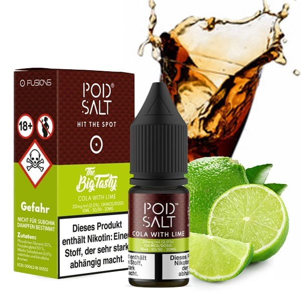 POD SALT Fusion Cola With Lime Nikotinsalz Liquid 10ml 20mg/ml